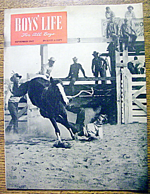 Boys Life Magazine-september 1947-junior Rodeo