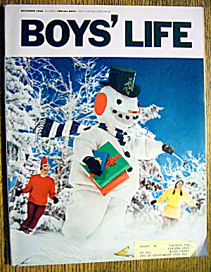 Boys Life Magazine-december 1966-gordie Howe/joe Falls