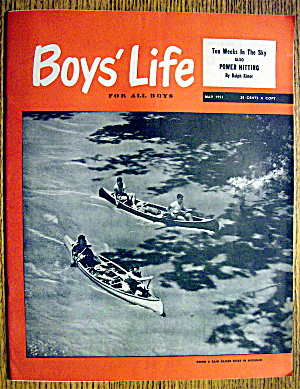 Boys Life Magazine-may 1951-power Hitting (Ralph Kiner)