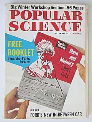 Popular Science Magazine-november 1961-math & Memory