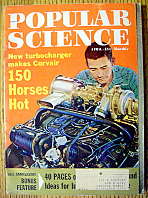 Popular Science Magazine-april 1962-150 Horses Hot