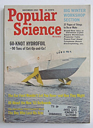 Popular Science Magazine-november 1962-hydrofoil