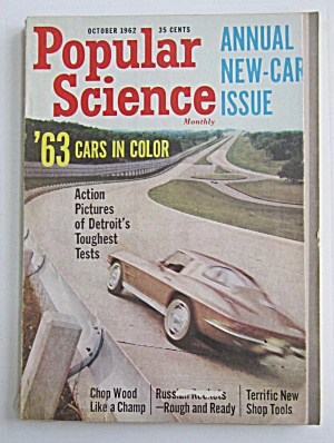 Popular Science Magazine-october 1962-hydrofoil