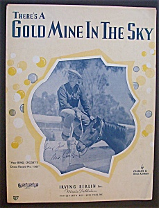 Sheet Music For 1937 There's A Gold Mine In The Sky