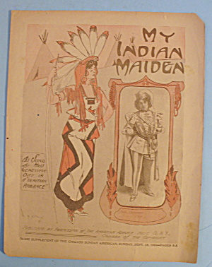 1904 My Indian Maiden With Miss Genevieve Day
