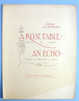 1899 A Rose Fable By C. B. Hawley