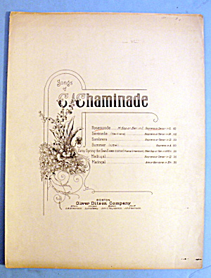 Early Edition Of Rosemonde By The Oliver Ditson Company