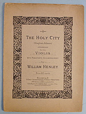 1900 The Holy City By Stephen Adams