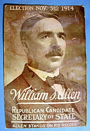 1914 William S. Allen Mailing Card (Image1)