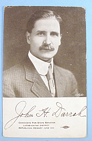 John H. Darrah Candidate for State Senator Postcard (Image1)