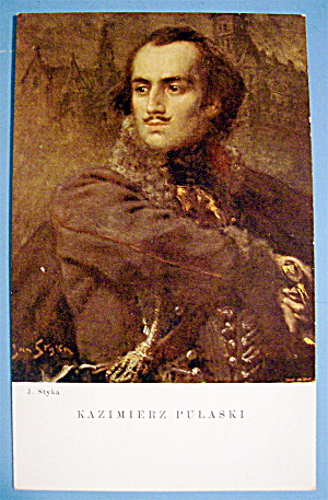 Kazimierz Pulaski Postcard ( J. Styka) (Image1)