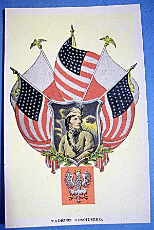 Tadeusz Kosciuszko Postcard (Military) (Image1)