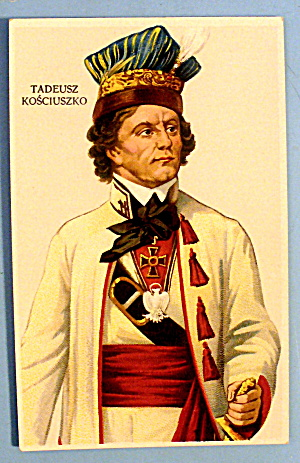 Postcard Of Tadeusz Kosciuszko (Great Coloring) (Image1)