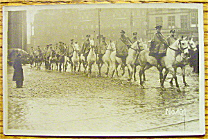 An Army Of Men On Horses In The Rain Postcard