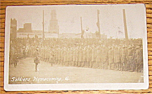 Soldiers Homecoming Postcard