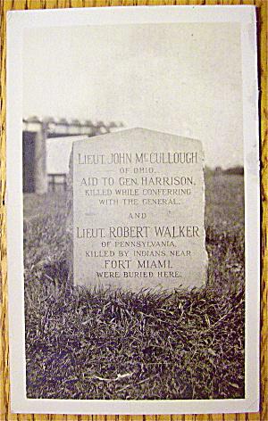 Head Stone Of John McCullough & Robert Walker Postcard (Image1)