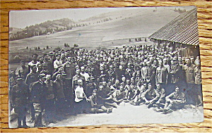 An Army Of Men Near A Village Postcard (Image1)