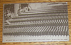 Bolster The Line With Liberty Bonds Postcard