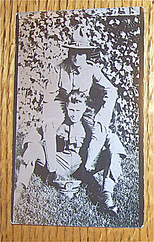 Two Military Brothers Postcard