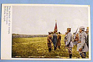 The Defilade Of The Troops Postcard (Polish Army)