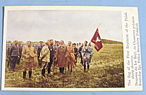 First Regiment Of The Polish Sharp Shooters Postcard