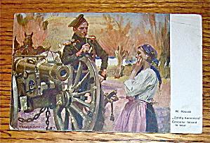 Wojciech Kossak- Zaloty Kanoniera Polish Postcard (Image1)