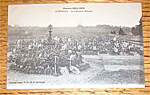 Luneville Military Cemetery Real Photo Postcard