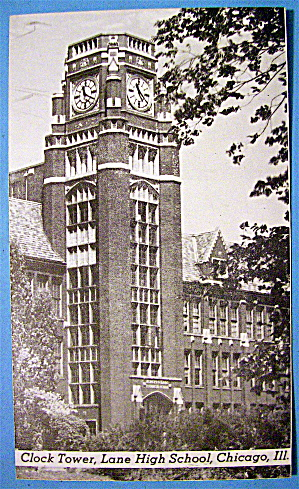 Postcard of Lane Technical High School (Clock Tower) (Image1)