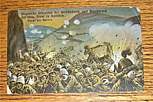 Escape Of The Russians At Galizien Postcard (Image1)