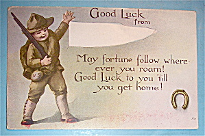 Good Luck from Soldier Boy Postcard (Image1)