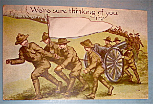 Soldier Men Out On The Field Postcard (Image1)