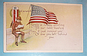 Happy Greeting To A Military Man Postcard (Image1)
