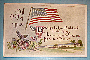 To a Pal of Mine Postcard With The American Flag (Image1)