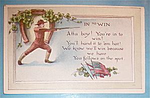 A Soldier Aiming His Gun Postcard (Image1)