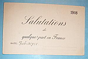 Salutations De Quelque Part En France Postcard (Image1)