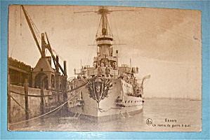Anvers Postcard With Ship On The Water (Image1)