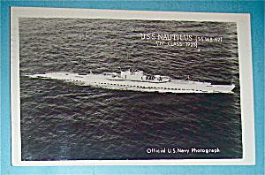 U.S.S. Nautilus Postcard (Navy Photograph) (Image1)