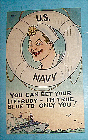 Sailor with Head in Innertube Postcard (Image1)