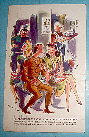 The American Theatre Wing Stage Door Canteen Postcard (Image1)