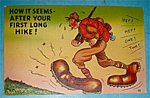 Military Man with One Ton Shoes Postcard (Image1)