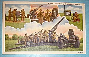 Anti-Aircraft Battery Postcard-Fort Sheridan, Illinois (Image1)