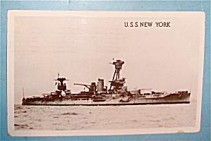 U. S. S. New York Postcard (Image1)