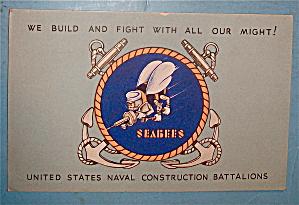 United States Seabees Postcard (Image1)
