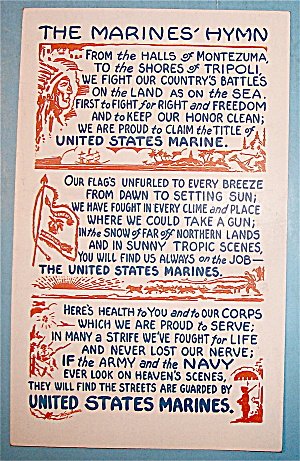 The Marines' Hymn Postcard (Image1)