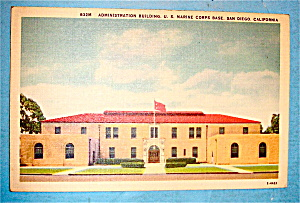 Administration Building Postcard-U.S. Marine Corps Base (Image1)