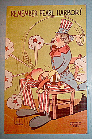 Remember Pearl Harbor Postcard with Uncle Sam (Image1)