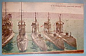 U.S. Submarines Awaiting Orders Postcard (Image1)