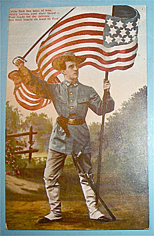 Uncle Sam Has Sons Of Iron Postcard (Image1)