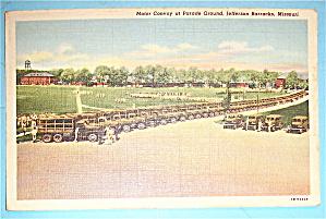 Motor Convoy At Parade Ground Postcard (Image1)