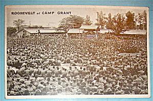 Roosevelt at Camp Grant Postcard (Image1)